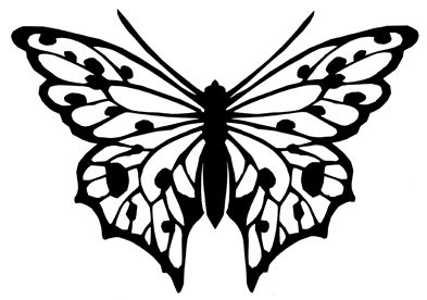 393x276 Free Butterfly Printable Amp How To Use With Silhouette Software