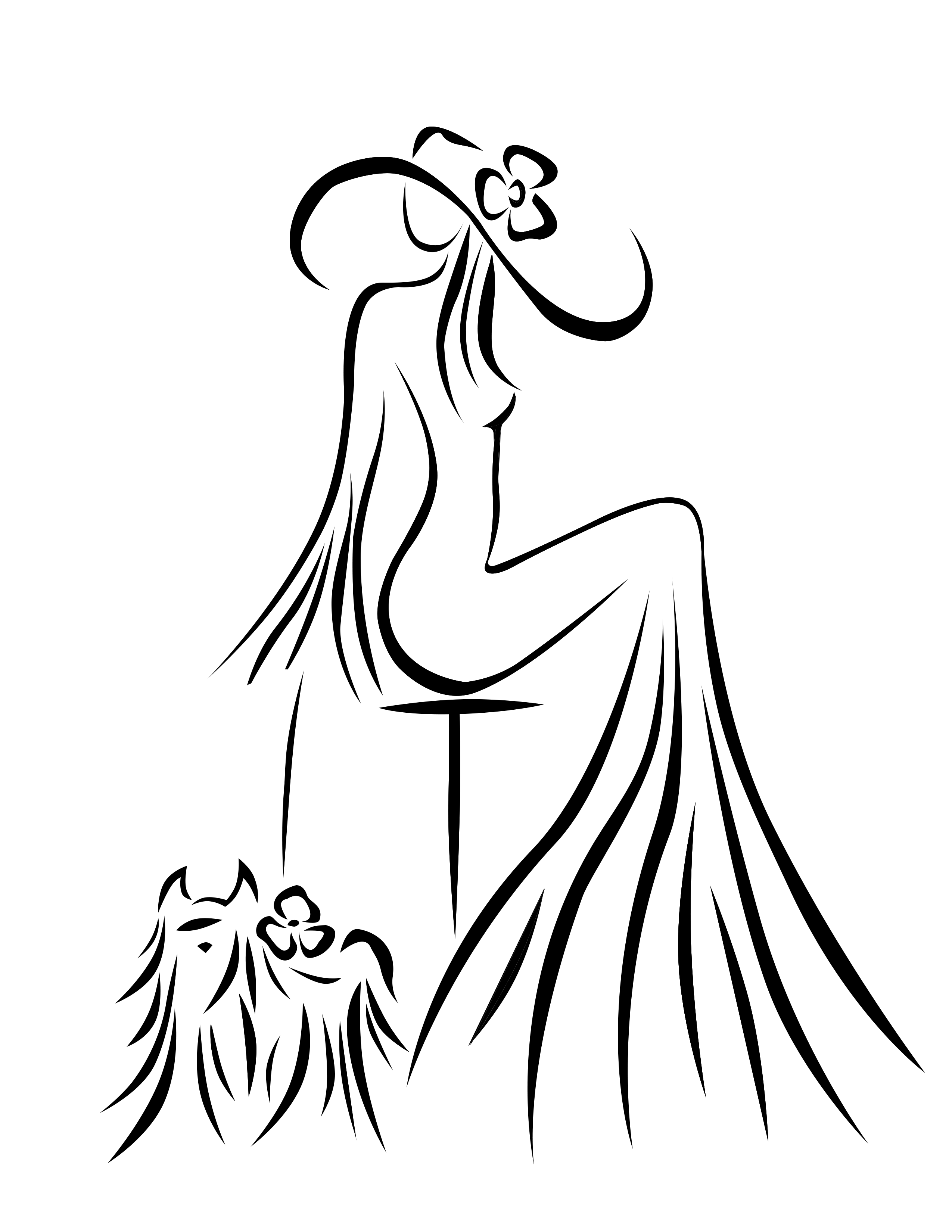 2550x3300 Pin By Elena Ross On My Drawings Silhouette, Draw