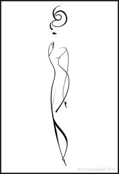 236x343 The Female Line, Black Line Sketches For Living Room Kresba