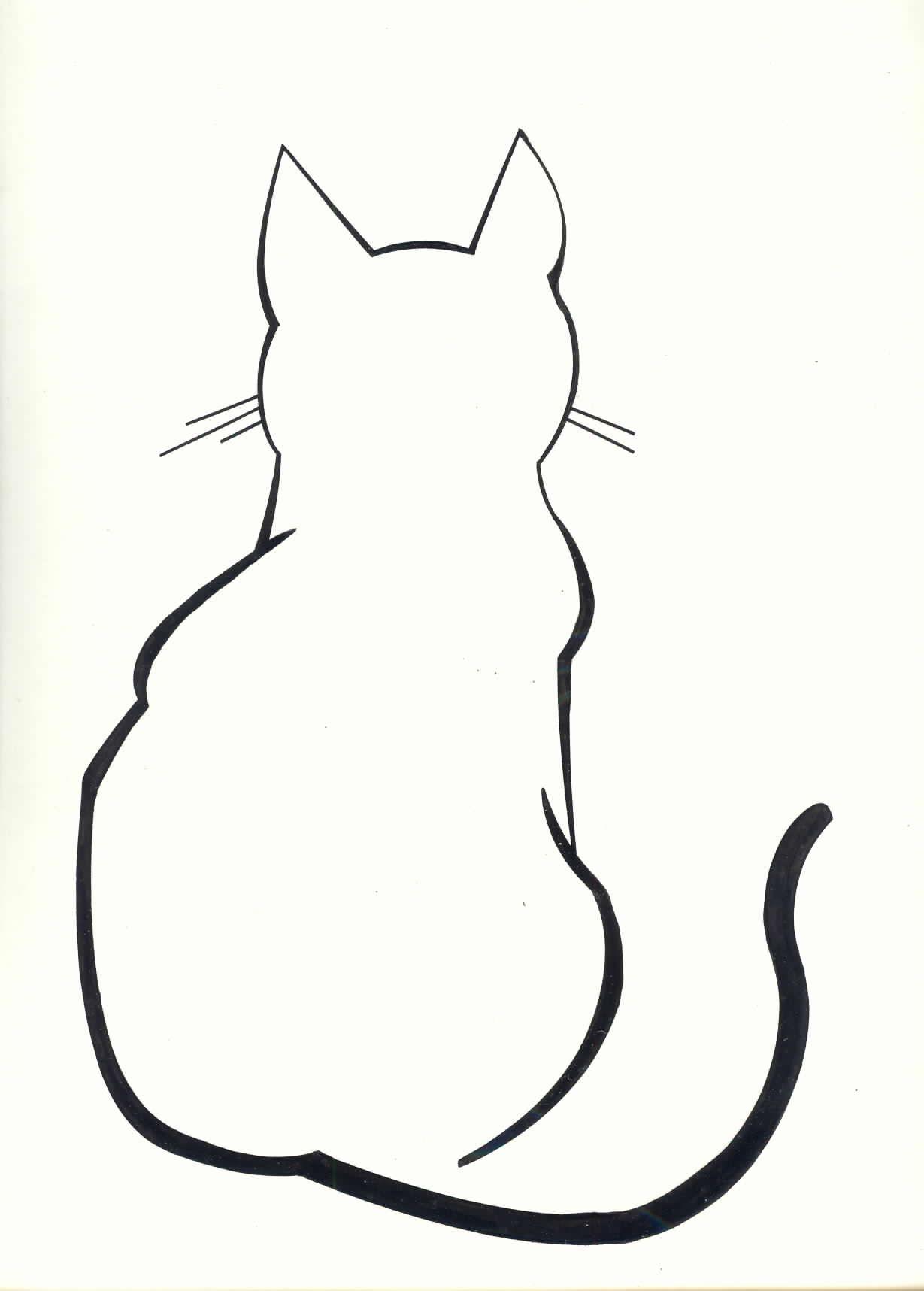1229x1717 Diy Cat Silhouette Pillow Cases Cat Outline Tattoo, Cat