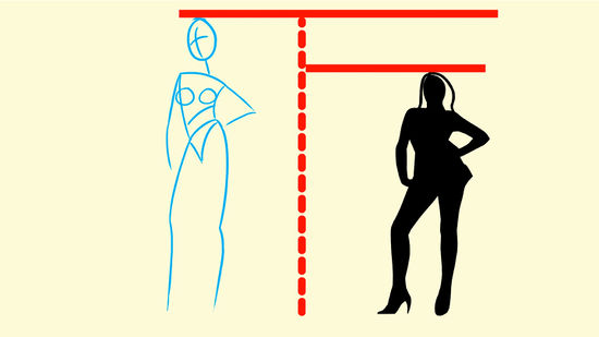 550x309 How To Draw Fashion Figures 6 Steps (With Pictures)