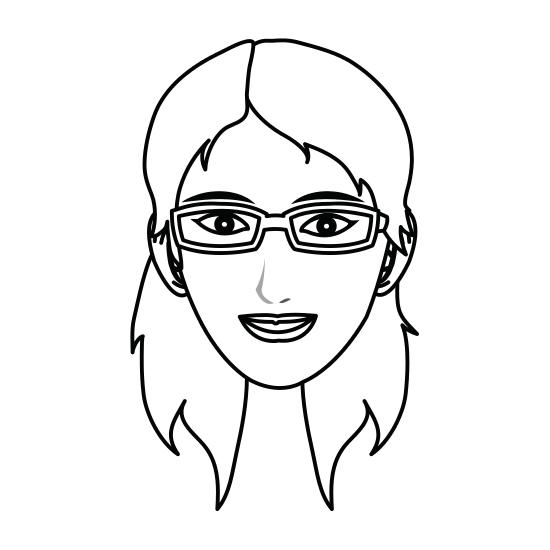 550x550 Silhouette Girl Face Draw Illustration