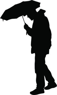 236x389 Picture Of Boy Holding Umbrella 27 (Children Silhouette Decals