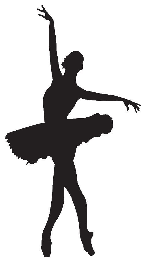503x921 Take Some White Or Pink Card And Draw The Outline Of A Ballerina