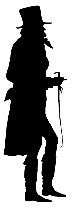 254x709 Victorian Silhouette Clipart