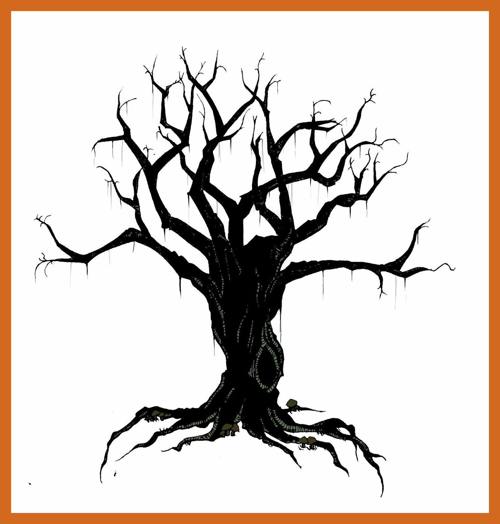 1592x1670 Inspiring Tree Drawing With Branches How To Draw Of Bird Style