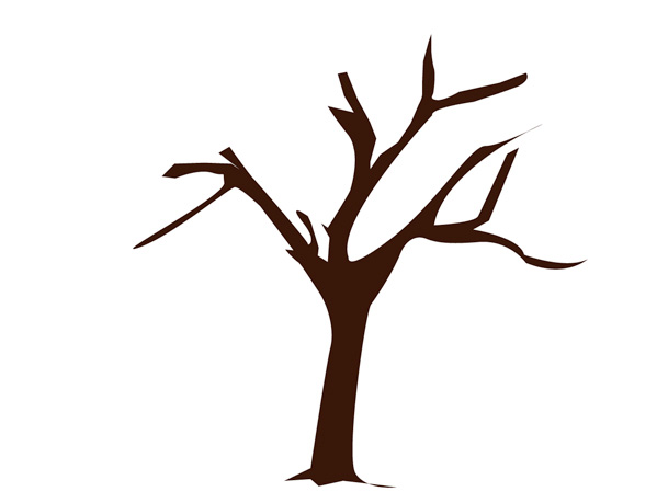 599x459 Create A Vector Tree With Custom Brushes And The Gradient Mesh Tool