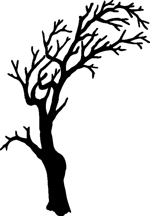 500x723 Dead Tree Outline Free Coloring Pages