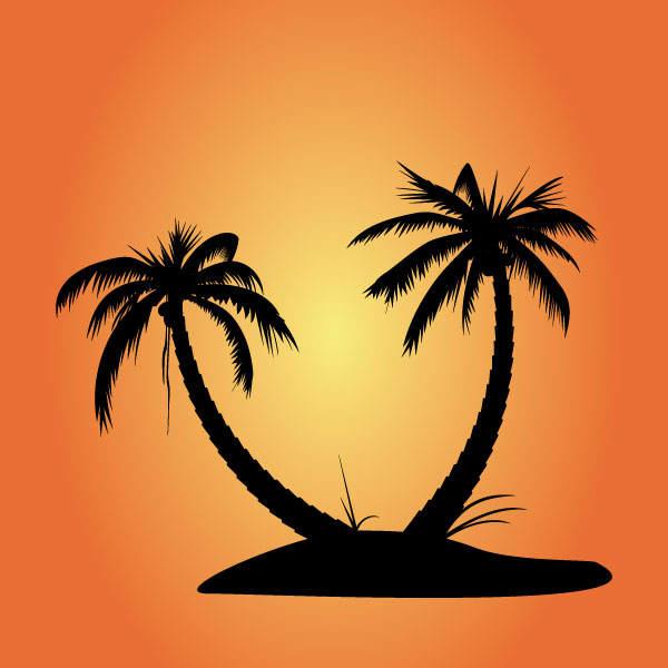 600x600 Free Vector Palm Tree Silhouettes Palm Tree Silhouette, Tree