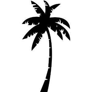 300x300 Palm Tree Wall Stickers