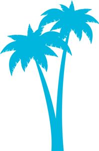 198x300 Palm Trees Die Cut Vinyl Decal Pv838 Palm, Window And Cars