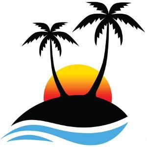 300x300 Palm Tree Sunset Clipart Decals, Clipart, Etc