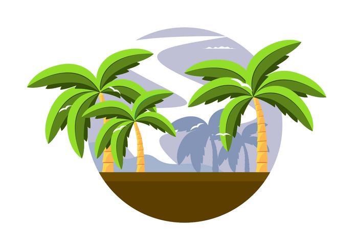 700x490 Coconut Trees Free Vector Art