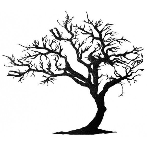 600x600 Leafless Tree Silhouette To Paint In The Bathroom And Put Hooks