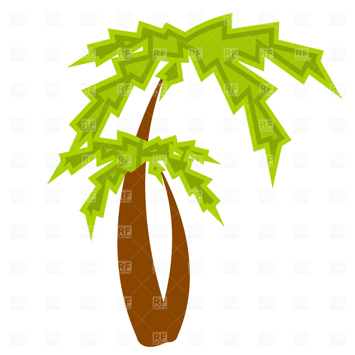 1200x1200 Palm Tree Silhouette Royalty Free Vector Clip Art Image