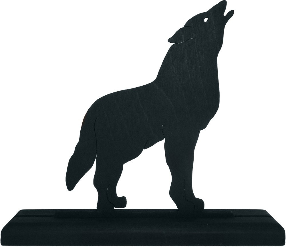 1000x863 Howling Coyote Silhouette