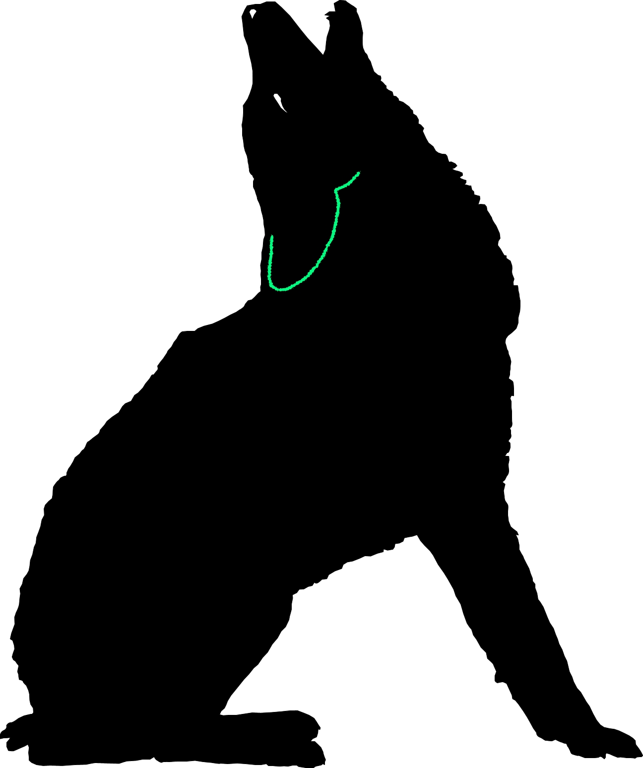 1296x1548 Howling Coyote Dxf Free Download