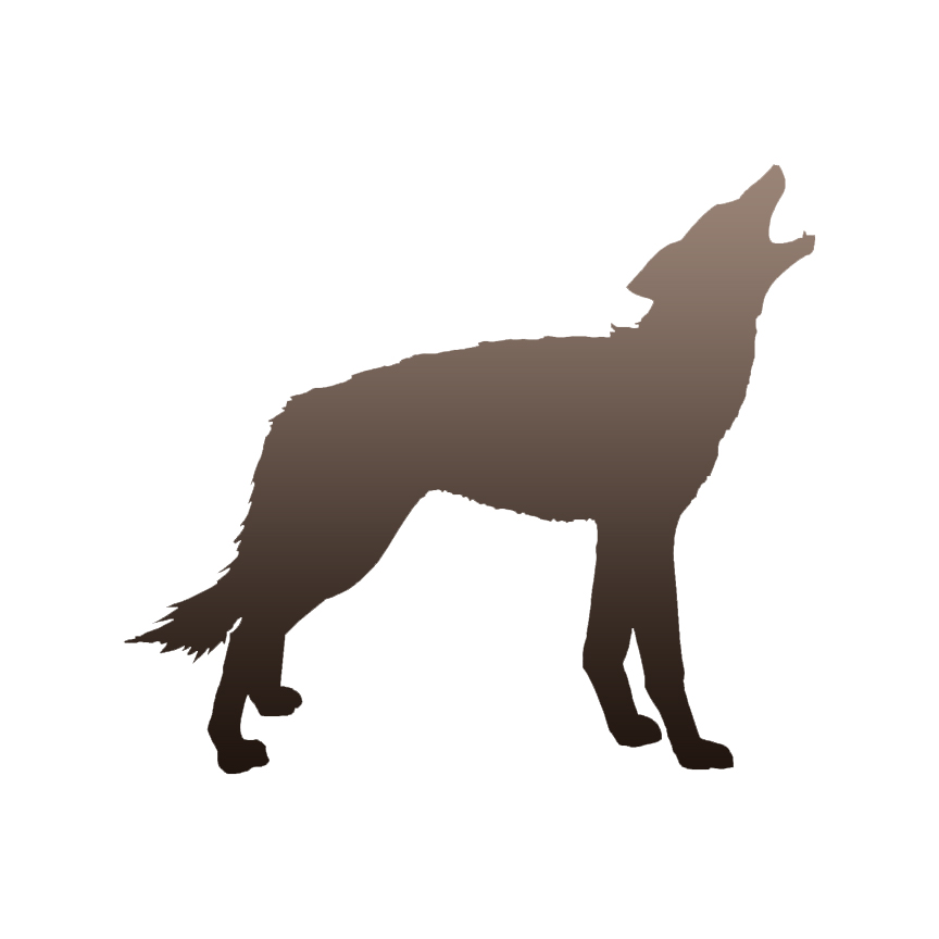 864x864 Wolf Howling Coyote Decal Sticker Choose Pattern + Size