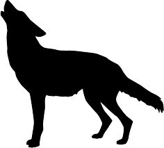 howling coyote silhouette at getdrawings com free for personal use rh getdrawings com coyote clip art free coyote clip art black and white