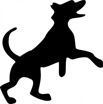 420x425 Howling Dogs Clipart