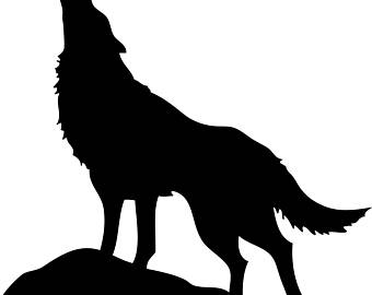340x270 Howling Wolf Mural Etsy