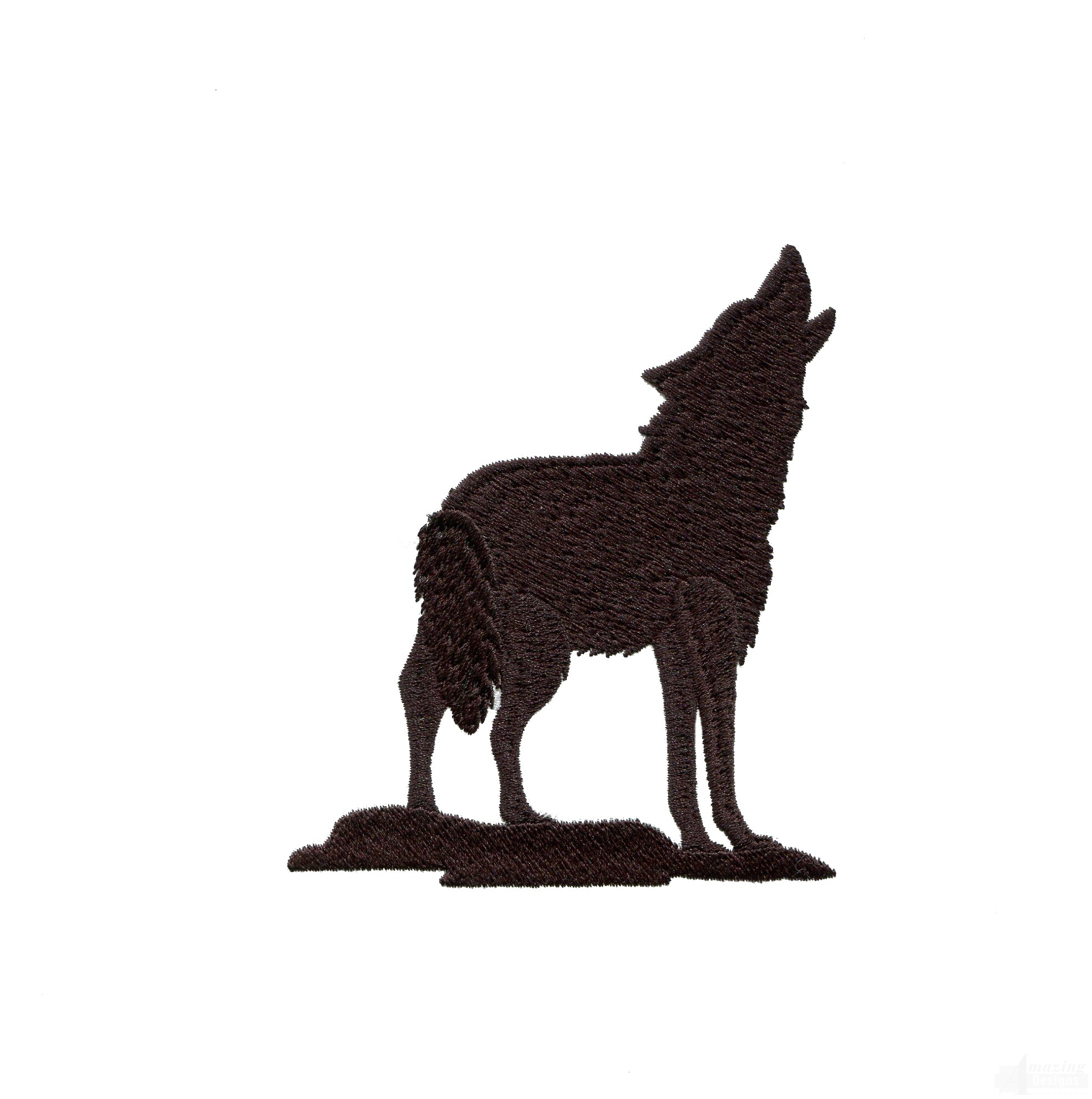1969x1982 Silhouette Howling Wolf Embroidery Design