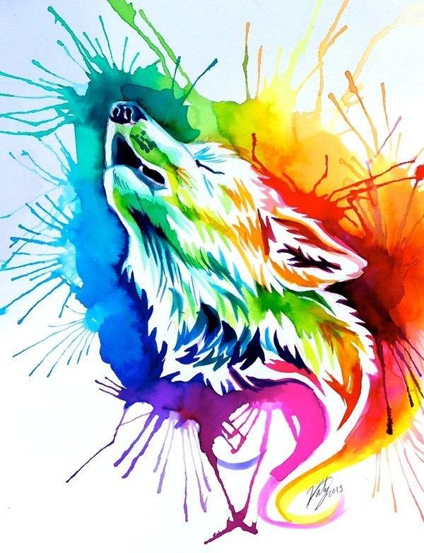 600x783 Howling Wolf Tattoo Design