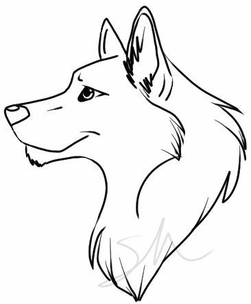 366x443 Simple Wolf Head Clip Art