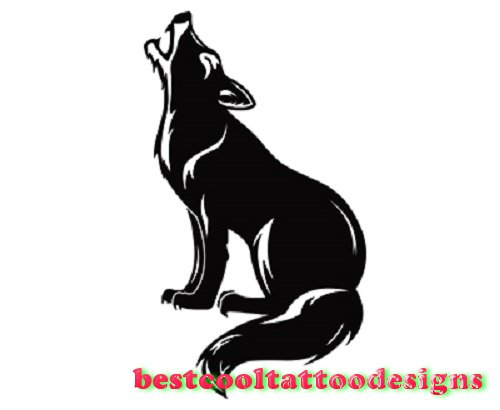 500x410 Howling Wolf Silhouette Tattoo