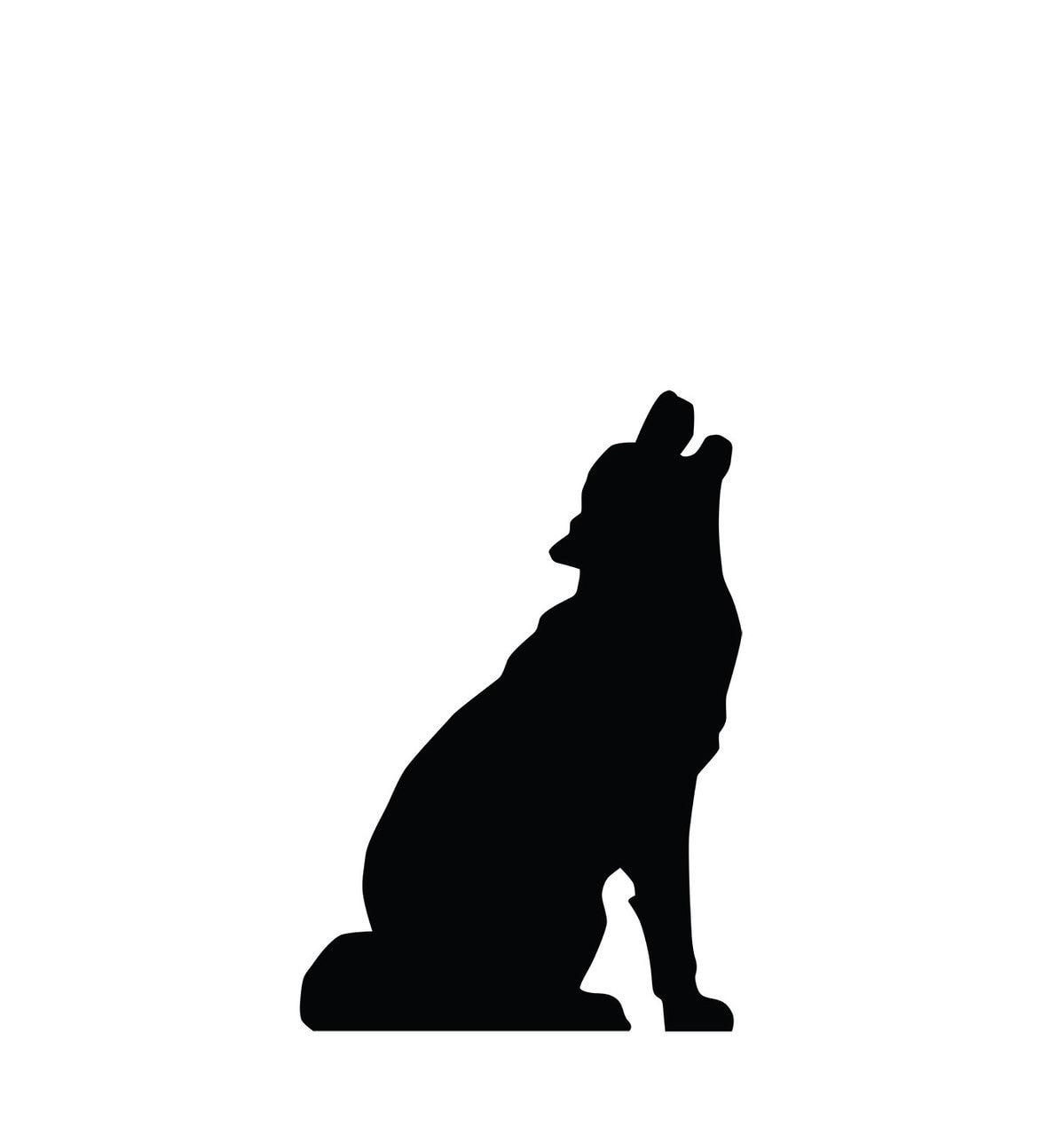 1199x1280 Life Size Howling Wolf Silhouette Cardboard Standup Cardboard Cutout