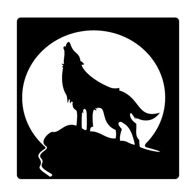 660x660 Howling Wolf Free Vector Animal Silhouette, Vector Clipart