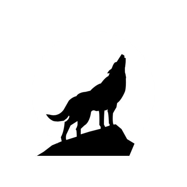 600x600 Psd Detail Howling Wolf Silhouette Official Psds Liked
