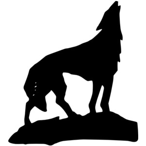 300x300 Wolf Silhouettes Clipart