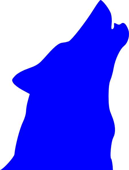 450x593 Blue Howling Wolf Clip Art