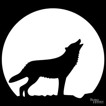 360x360 Free Pumpkin Stencils For Halloween Backdrops, Wolf And Moon