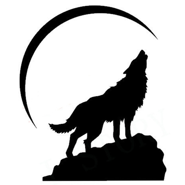 640x640 Free Shipping Howling Wolf