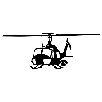 Huey Helicopter Silhouette