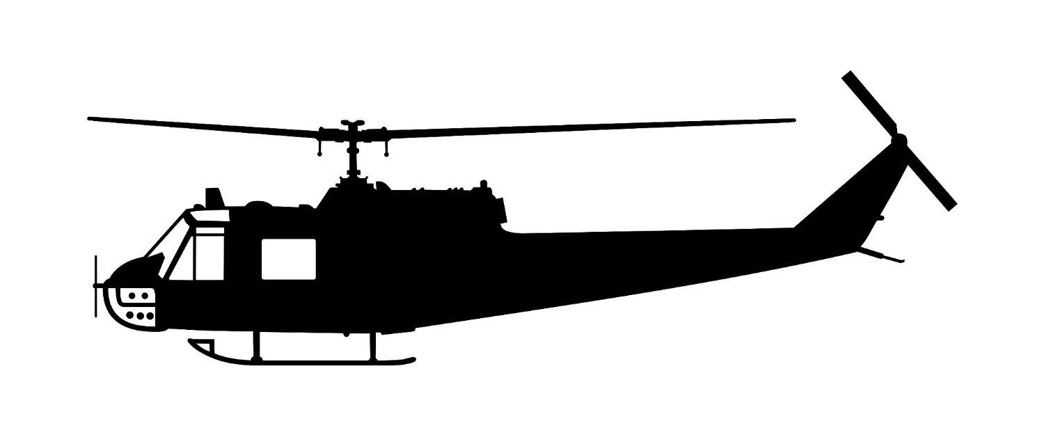 1500x625 Huey Helicopter Silhouette Plasma Cutting And Silhouettes