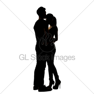 325x325 Silhouette Of Asian Couple Hug Gl Stock Images