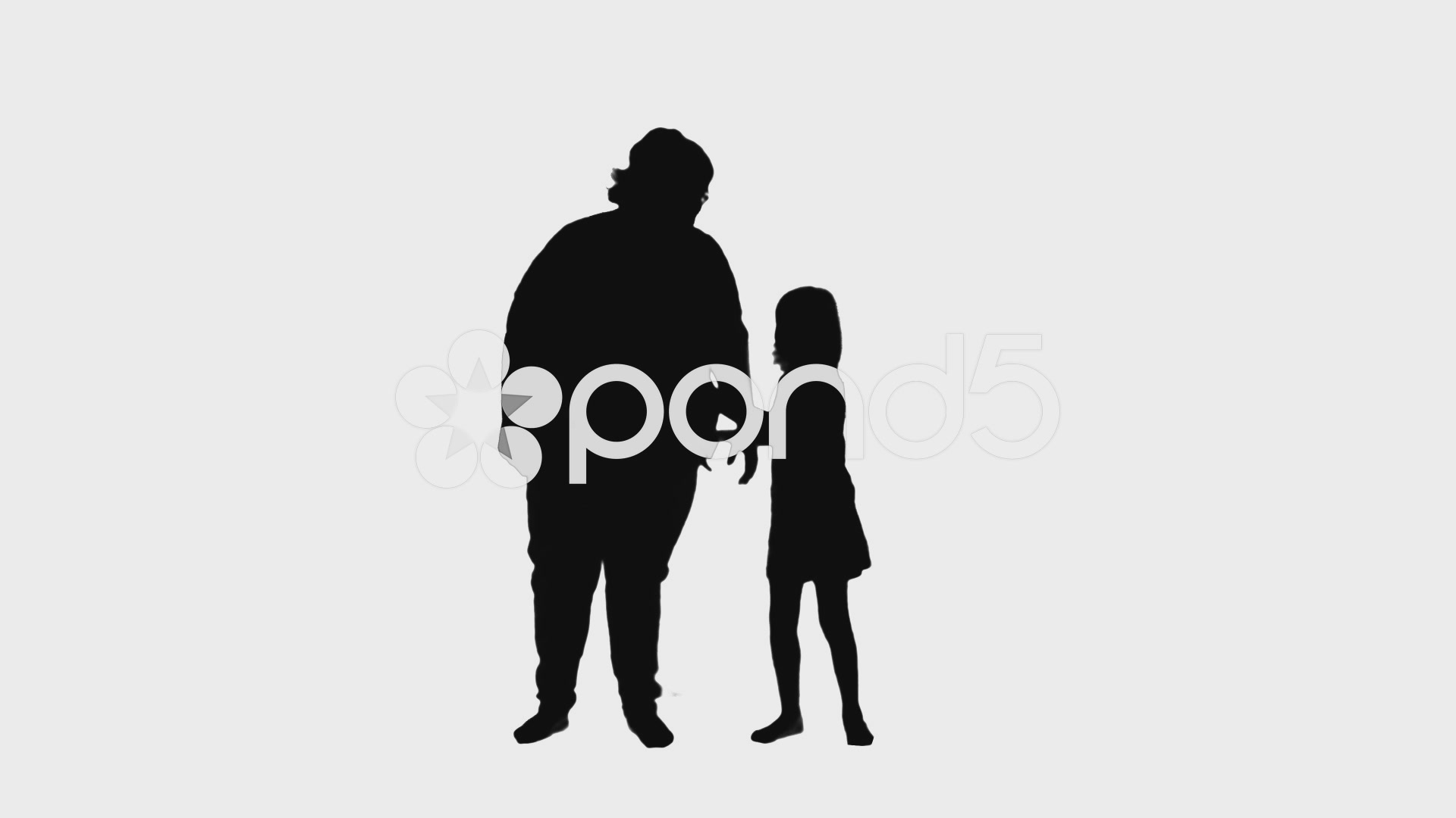 1920x1080 Video 2313 Mother And Daughter Hugging Silhouettes, Hd ~