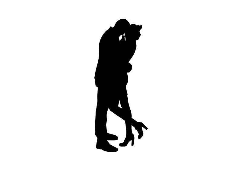 800x566 Couple Hug Silhouette Vector Silhouettes Couple