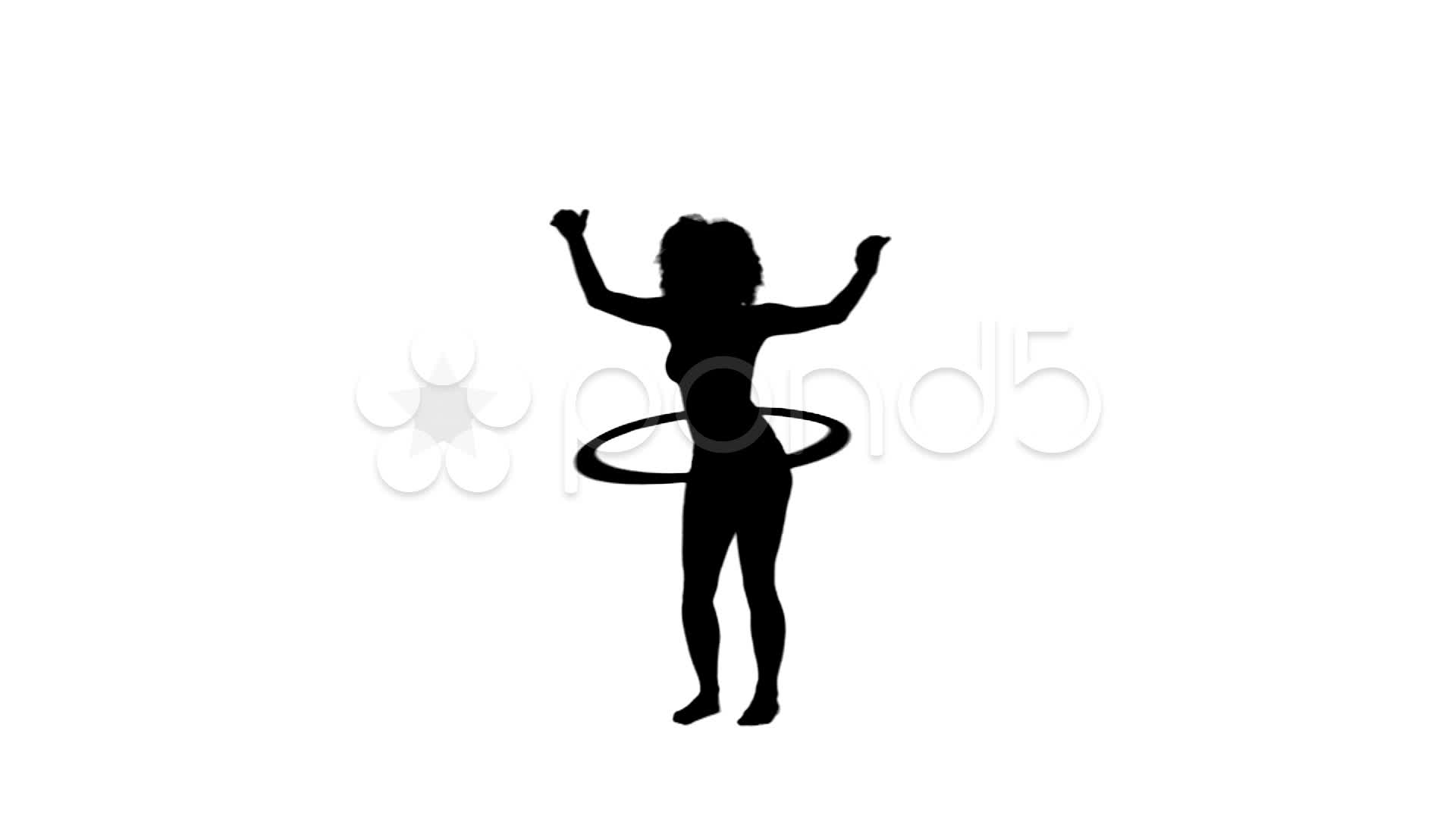 1920x1080 Video Silhouette Of A Woman Using A Hula Hoop ~