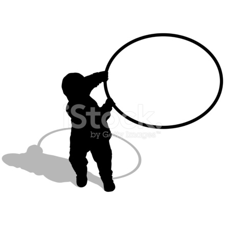 440x440 Young Boy With A Hula Hoop (Vector Amp Stock Vector