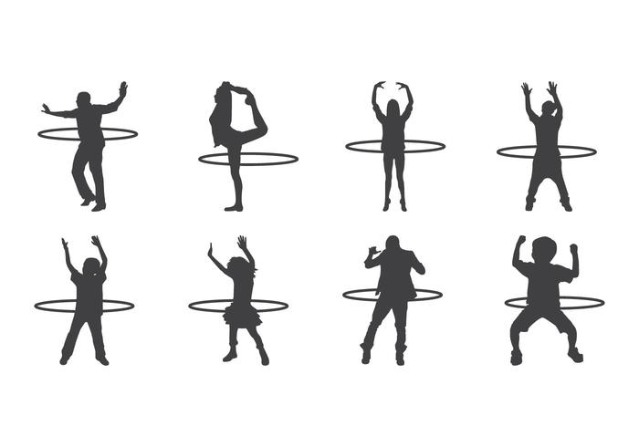 700x490 Free Hula Hoop Silhouettes Vector