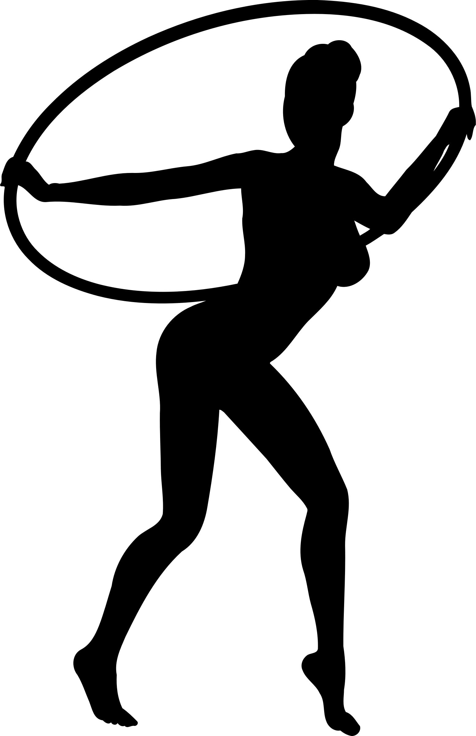 1552x2400 Girl Dancing With Hoop Silhouette Icons Png