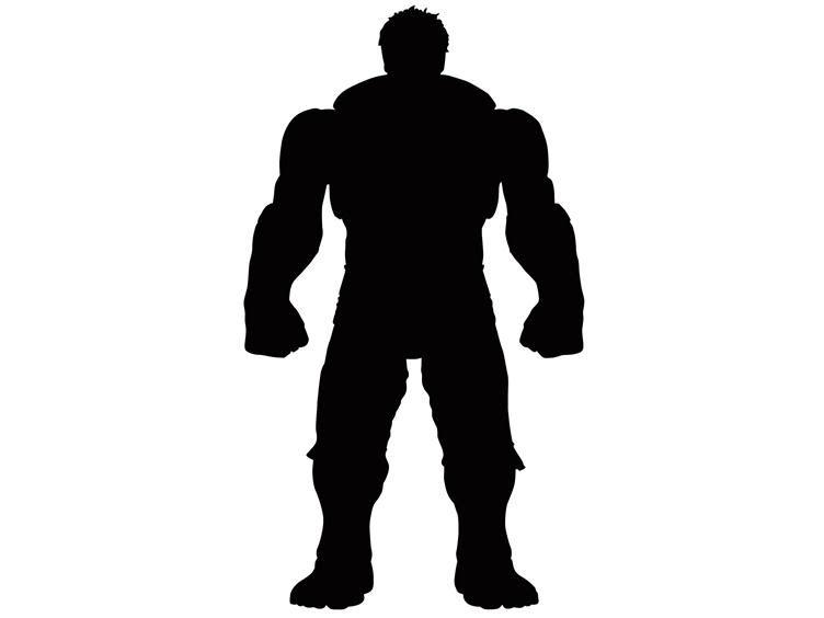 752x564 Hulk Silhouette Superhero Decals Silhouettes