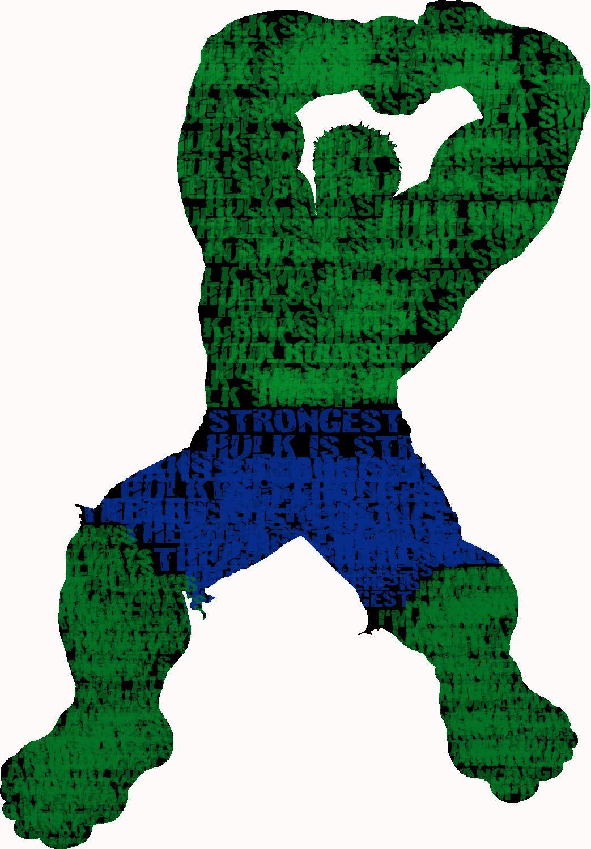 1043x1500 Typography Silhouette Hulk Graphic Art