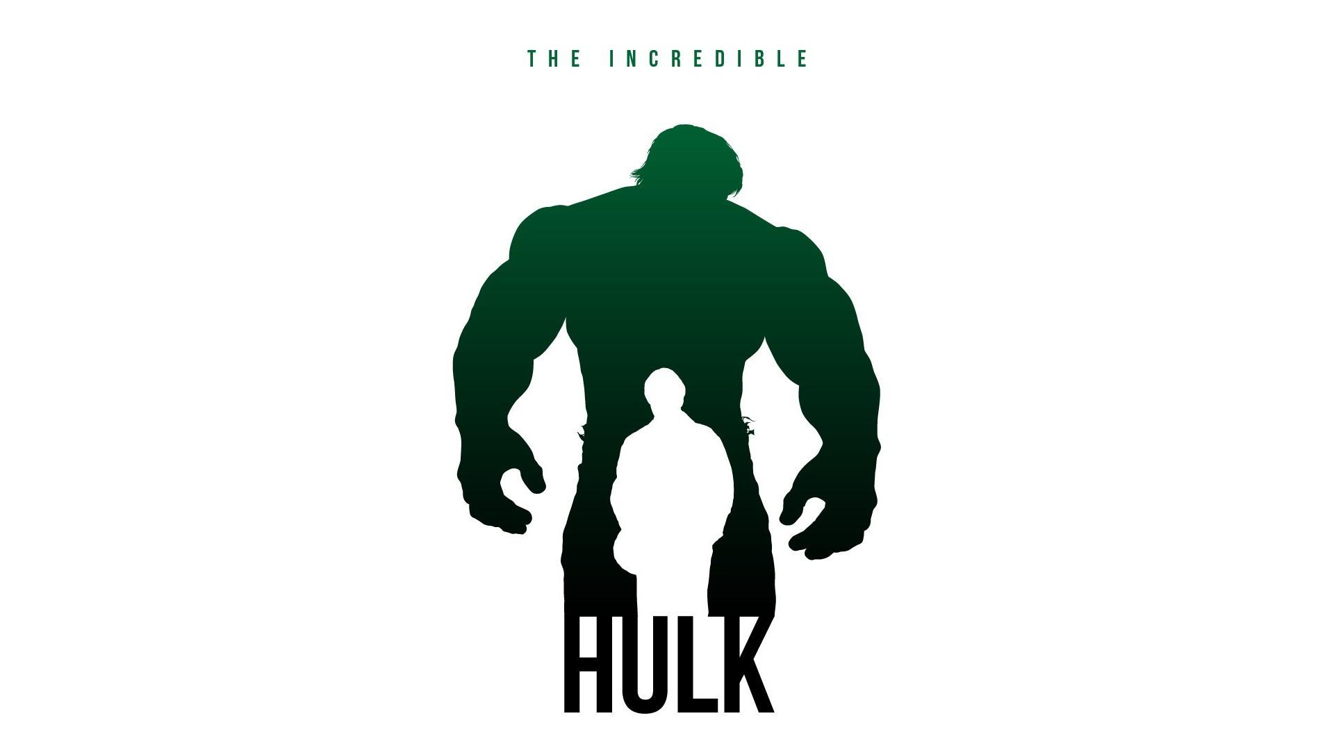1920x1080 Wallpaper Illustration, Silhouette, Text, Logo, Hulk,