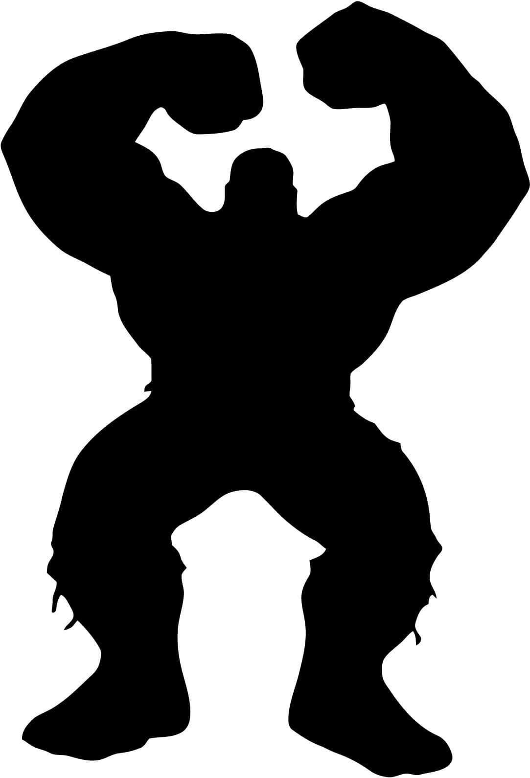 1083x1590 Hulk Full Body Silhouette Smash