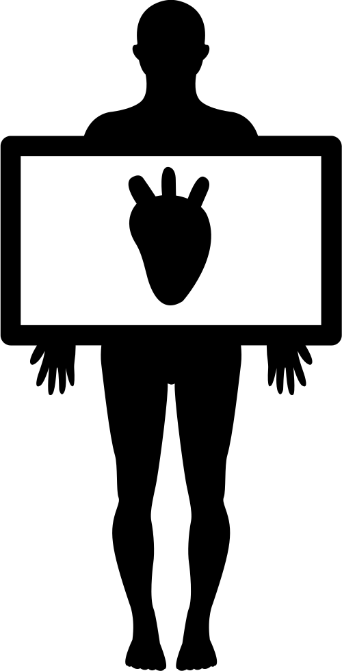 500x980 Human Body With Heart Silhouette Svg Png Icon Free Download